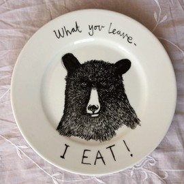 jimbobart - Hungry Bear side plate