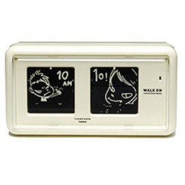 奈良美智, TWEMCO - Nara clock WALK ON mini(beige)