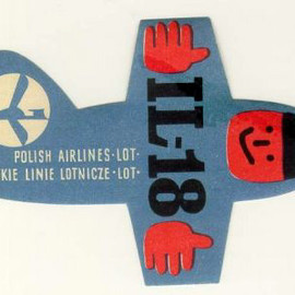 Polish Airlines IL-18 Labels