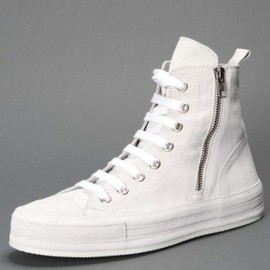 ANN DEMEULEMEESTER - LACE-UP ANKLE SNEAKERS