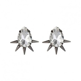 FALLON/DANA LORENZ - Tear Drop Earrings in Gunmetal