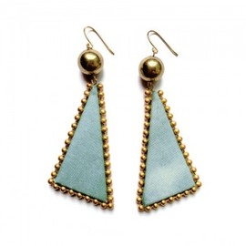YAGA - Triangle Blue Earrings  イヤリング/ピアス