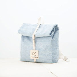 Thisispaper - Top Roll Denim Rucksack