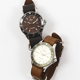MR.OLIVE E.O.I, TIMEX, HORWEEN - TIMEX × MR.OLIVE E.O.I / HORWEEN CHROMEXCEL LEATHER BELT DIVER'S WATCH