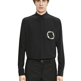 GIVENCHY - SS2015 FLORAL EMBROIDERED SILK SHIRT