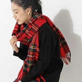 UNITED ARROWS Style for Living - BRONTE ストール チェック 70×190 レッド