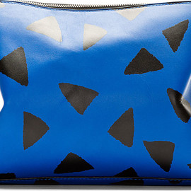 3.1 Phillip Lim - Blue Leather Printed 31 Minute Cosmetic Clutch