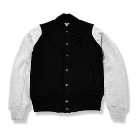 OriginalFake - SWEAT VARSITY JACKET WITH LOOPWHEELER