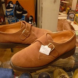 "Dr.Martens - 「<used>80-90's Dr.Martens MONKSTRAP SUEDE SHOES lightbrown""made inENGLAND"" size:UK7(26cm) 12800yen」完売"