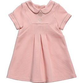 LITTLE MARC JACOBS - Pink Jersey Dress with Gold Glitter Trims