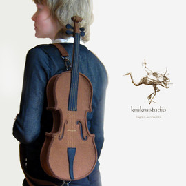 krukrustudio - Violin Bag From Brown Felt