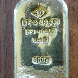 German - DEGUSSA GOLD 999.9