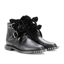 Saint Laurent Paris - RANGERS STUDDED LEATHER BOOTS