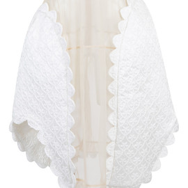 SIMONE ROCHA - SS2015 Tulle And Brocade Skirt With Crochet Details