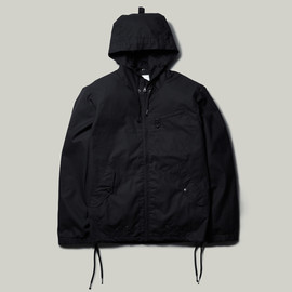NEXUSVII, Maiden Noir - NEX-WCS LV-6 WAXED ZIP HOODED JKT - Black