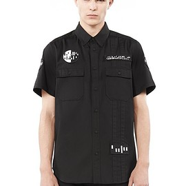 alexander wang - ALEXANDER WANG PATCH DETAILED COLLARED SHORT SLEEVE SHIRT ショートスリーブシャツ Adult 12_n_e
