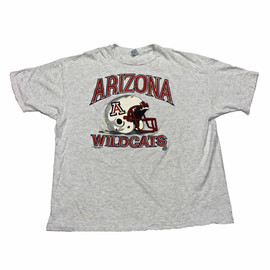 VINTAGE - Vintage 1992 Arizona Wildcats Football Shirt Made in USA Mens Size XXL