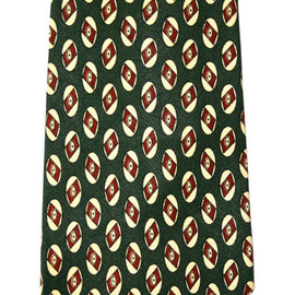 POLO RALPH LAUREN - Vintage Polo by Ralph Lauren Green Silk Necktie Made by Hand