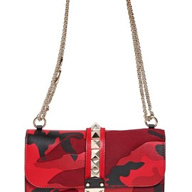 VALENTINO - LARGE LOCK CAMOUFLAGE PATCHWORK BAG
