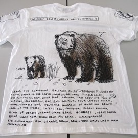 the Endangered Species Coalition - Grizzly Bear T-Shirt by Tom Sachs