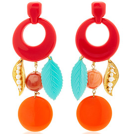 Lulu Frost - One-Of-A-Kind Vintage Cherry Red Earrings