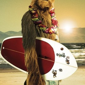 Star Wars - Chewbacca with surfboard - New humorous Chewie poster