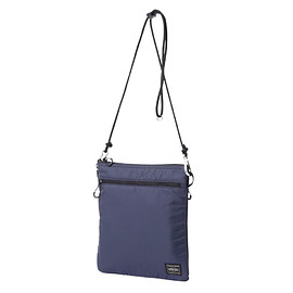 "HEAD PORTER - ""LUMIERE"" SHOULDER POUCH (L) NAVY"