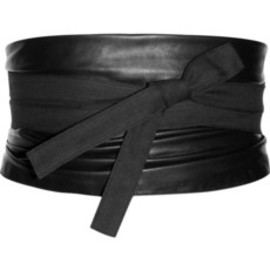 Maison Martin Margiela - Leather and canvas obi belt