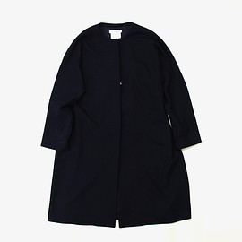 YAECA - YAECA | WOMEN | CONTEMPO | 165210 NO COLLAR COAT | NAVY