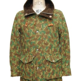 Monitaly - Hooded Parka Wool Camo Green