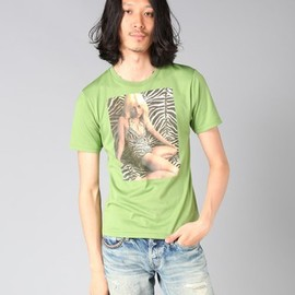 HYSTERIC GLAMOUR - BLONDIE/HEART OF GLASS pt Tシャツ