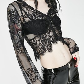 Dollskill - Here For Trouble Lace Top