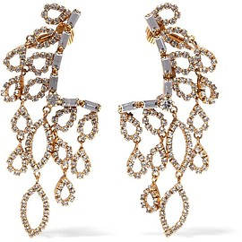 Erickson Beamon - Princess gold-plated crystal earrings