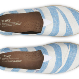 TOMS - Blue & White Stripes Men's Classics