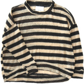 O-M - Coppin Stripe Crew Sweater (black/natural stripe)