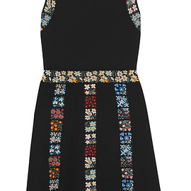 VALENTINO - Resort 2016 Floral-intarsia knitted mini dress