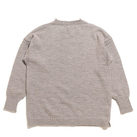 Le Tricoteur - Big Size Guernsey Sweater-Oatmeal