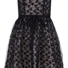 RED VALENTINO - strapless lace dress