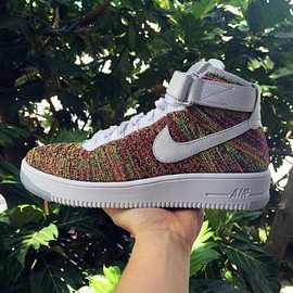 NIKE - NIKE AIR FORCE 1 FLYKNIT MULTICOLOR