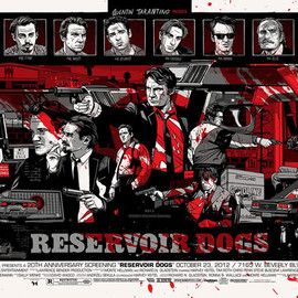 Tyler Stout from Movie Art Boutique 'Mondo' - Reservoir Dogs -Variant Edition