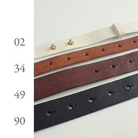 evam eva - leather belt -20mm-