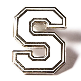PINTRILL - Varsity Letter Pins - White and Silver