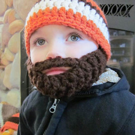 bylauradesign - Kids ULTIMATE Bearded Beanie Orange