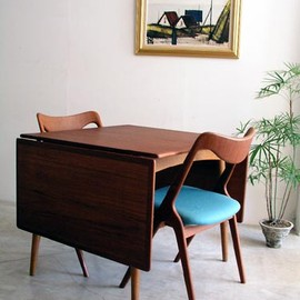 Hans J.Wegner - Andreas Tuck Dining table with 2 flap tables designed