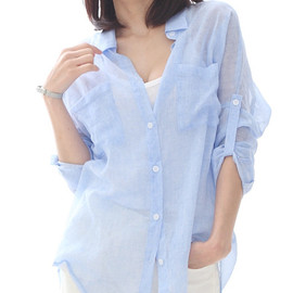 LUXE ASIAN - [LUXE ASIAN: ASIAN STYLE] Cotton shirt