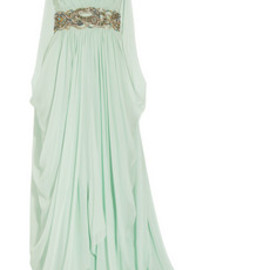 MARCHESA - Crystal-embellished silk-chiffon gown