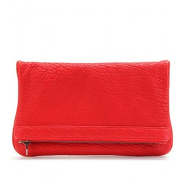 ALEXANDER WANG - TEXTURED LEATHER CLUTCH