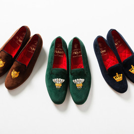 Tricker's × Beautiful people - slippers/velvet