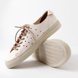 Buttero - Coloured Edge Low Top Leather Sneaker