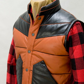 The Flat Head - DWV-10 DEER SKIN × EIDER DOWN VEST